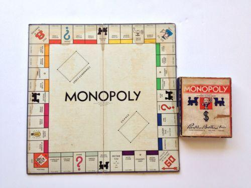 Image result for images of original monopoly board