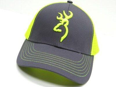 Browning 308177541 Black Neon Green Flashback Cap Baseball Hat w/ Snap Back - Neon Green Hats