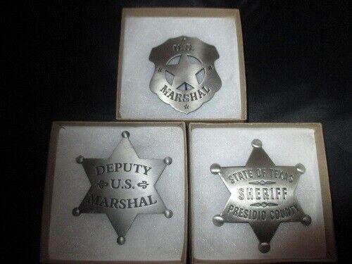 Old West Badges, 3 Movie Set, True Grit, Rio Bravo, Gunsmoke