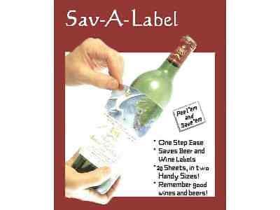 25 Wine Beer Champagne Label Remover Saver Preserver Labeloff Laminate Lift USA