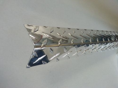 ".063 Aluminum Diamond Plate Corner Guards Angle 2 1/2"" x 2 1/2"" x 72"""
