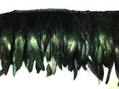 Black Feather Trim