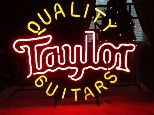 "New Quality Guitars Taylor Neon Light Sign 17""x14"" Home Decor Lamp Bar Display"