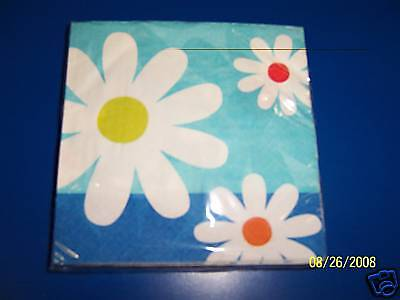 Sunny Days Blossoms Flower Daisy Floral Garden Party Beverage Napkins Daisy Beverage Napkin