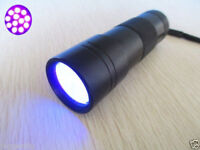 BLACK LIGHT 12 LED UV GHOST FLASHLIGHT TORCH SUPER BRIGHT LEDs LAMP ULTRA VIOLET