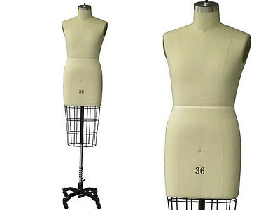 Professional Pro Working Dress Form Mannequin Male Half Size 36 Whip