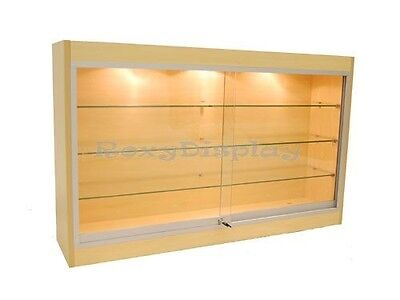 Maple Color Wall Showcase Display Store Fixture Knocked Down Wc439m