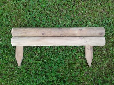 Pack Of 10 New Horizontal Garden Lawn Log Panel Edging 0.5M X 4 Inch Free P&P