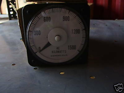 Siemens Allis Ac Kilowatt Meter Cat103221aret7dec