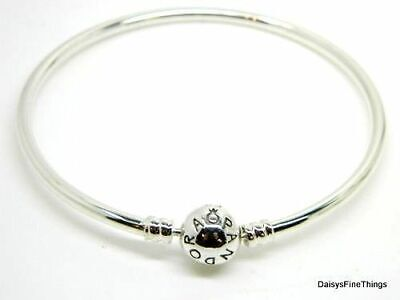 NEW/TAGS AUTHENTIC PANDORA SILVER BANGLE BRACELET #590713 MULTIPLE SIZES