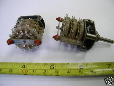 Rotary Switch 12 Pole 2 Positions Nos Lot Of 1