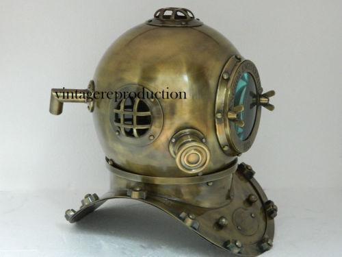 "Vintage antique 18Inch diving divers helmet deep sea anchor engineering 1921 """