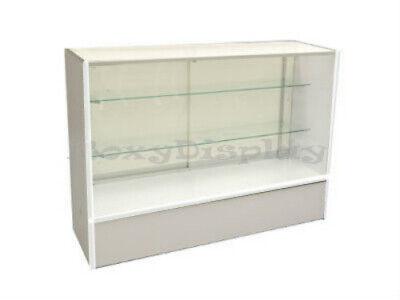48 Full Vision White Showcase Display Store Fixture Knocked Down Sc-sc4wx