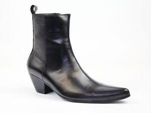Black Cuban Heel Boots 0616b48762ed