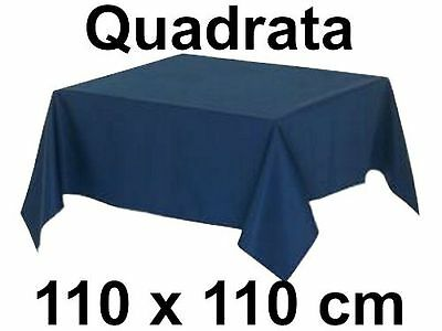 Tovaglia Quadrata 100% Cotone 110 X 110 cm Tinta Unita Sirge Vari Colori