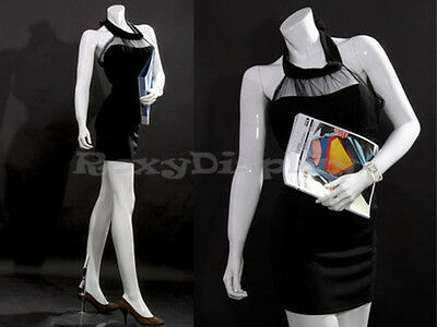 Female Fiberglass Headless Style Mannequin Dress Form Display Mz-lisa10bw