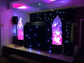 3 x 2m led star cloth including stand