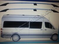 Volkswagen VW Crafter Omtec Aluminium Chrome Roof Rails 2006 > pr SWB Brand New Boxed only £120