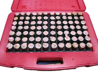 M6 Minus Plug Pin Gage Gauge Set 0.833-0.916 84 Pcs