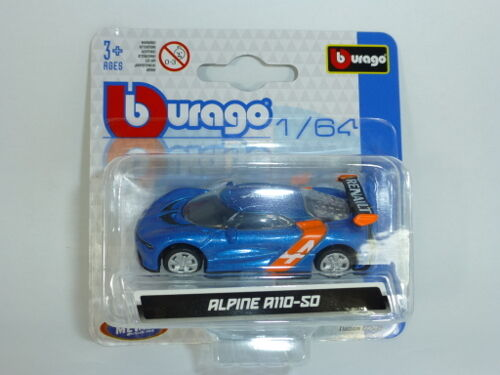 Bburago 59000 Alpine A110-50 blau Maßstab 1:64 Modellauto NEU!  °
