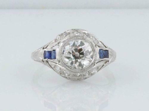 antique sapphire engagement ring ebay