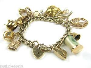 9ct Gold Charm Bracelets e9249bbc517