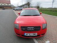 2002 Audi TT, 180BHP ,FULL SERVICE HISTORY, 3 Month Warranty,12 Month MOT,HPI clear,TAX £315 PERYEAR