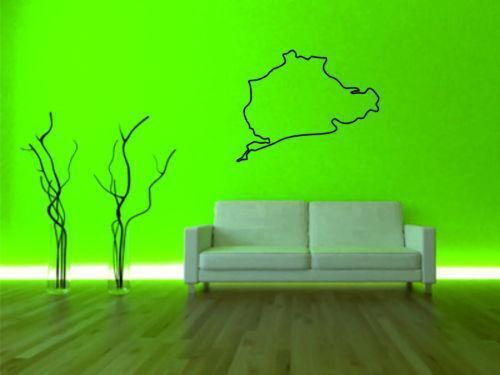 wandtattoo n rburgring wandtattoos wandbilder ebay. Black Bedroom Furniture Sets. Home Design Ideas