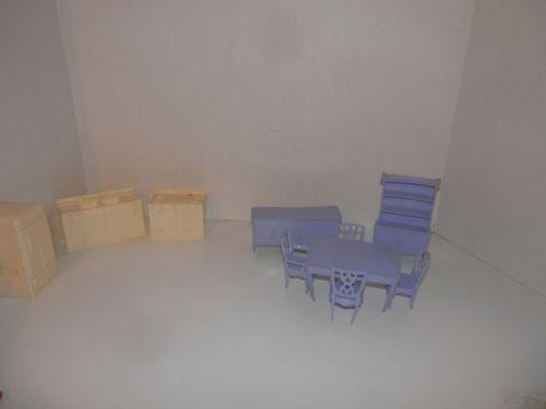 Marx Plastic Dollhouse Furniture Ebay