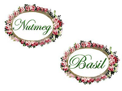 SHaBbY FLoRaL OVaL SPiCe LaBeLs WaTerSLiDe DeCALs ~ 2 SeTs~ Oval Spice