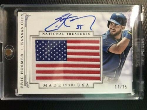 2014 Panini National Treasures Eric Hosmer Made in the USA AUTO For Sale - 2