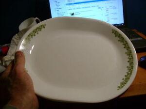 "499-Corelle 12"" Oval Platter in Spring Green Blossom $15.00"