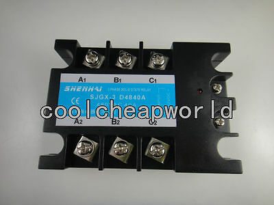 Three Phase 3 Phase Dc Ac Solid State Relay Ssr-40a 40a 480vac