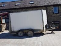 Ifor Williams BV106G Box Trailer c/w rear ramp, 3500KGS LOAD CARRY, GOOD CONDITION, NEEDS A CLEAN