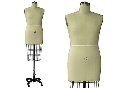 Professional Pro Working Dress Form Mannequin Male Half Size 42 Whip
