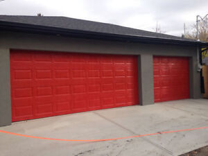 Brand New 8 x 7 Garage Door on sale for 555.00 installed