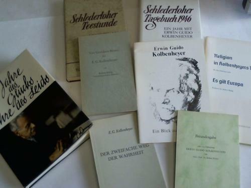 (Kolbenheyer, Erwin Guido): 8 Ausgaben über E.G. Koldemheyer