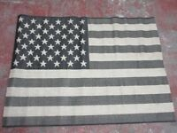 AMERICAN FLAG RUG - BLACK & SAND - 120 x 70 cm - ONLY £20 !!!