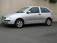 SEAT IBIZA 1.4 CHILL 3 DOOR HATCHBACK,2002 02,MOT ONE FULL YEAR
