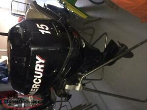15hp Mercury short shaft outboard