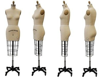 Professional Pro Female Working Dress Form Mannequin Half Size 8 Whiparm