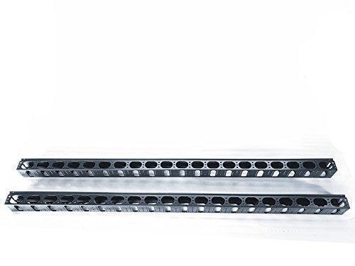 Raising Electronics 42U Vertical Rack Mount Metal Cable Management  one piece