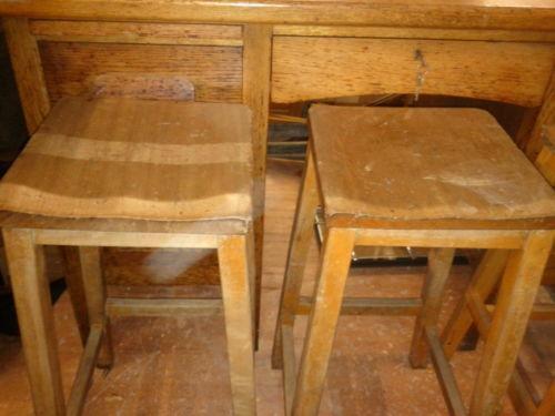 Wooden Lab Stool Ebay