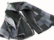 Grey Black Silk Scarf