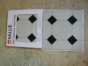 Vinyl Floor Tiles Flooring EBay - Tile that sticks to the floor