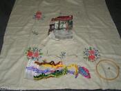Embroidery Kits Tablecloth