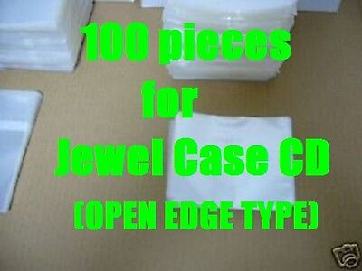 Open Mouth Outer Plastic Sleeves for CD Jewel Cases 100