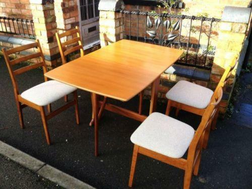 Ercol Dining Table And Chairs Ebay