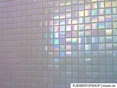 glasmosaik fliesen mosaik perlmutt effekt weiss top bad dusche pool ebay. Black Bedroom Furniture Sets. Home Design Ideas
