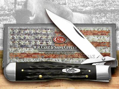 Case xx Cheetah Knife Jigged Genuine Buffalo Horn Stainless Pocket Knives 65013